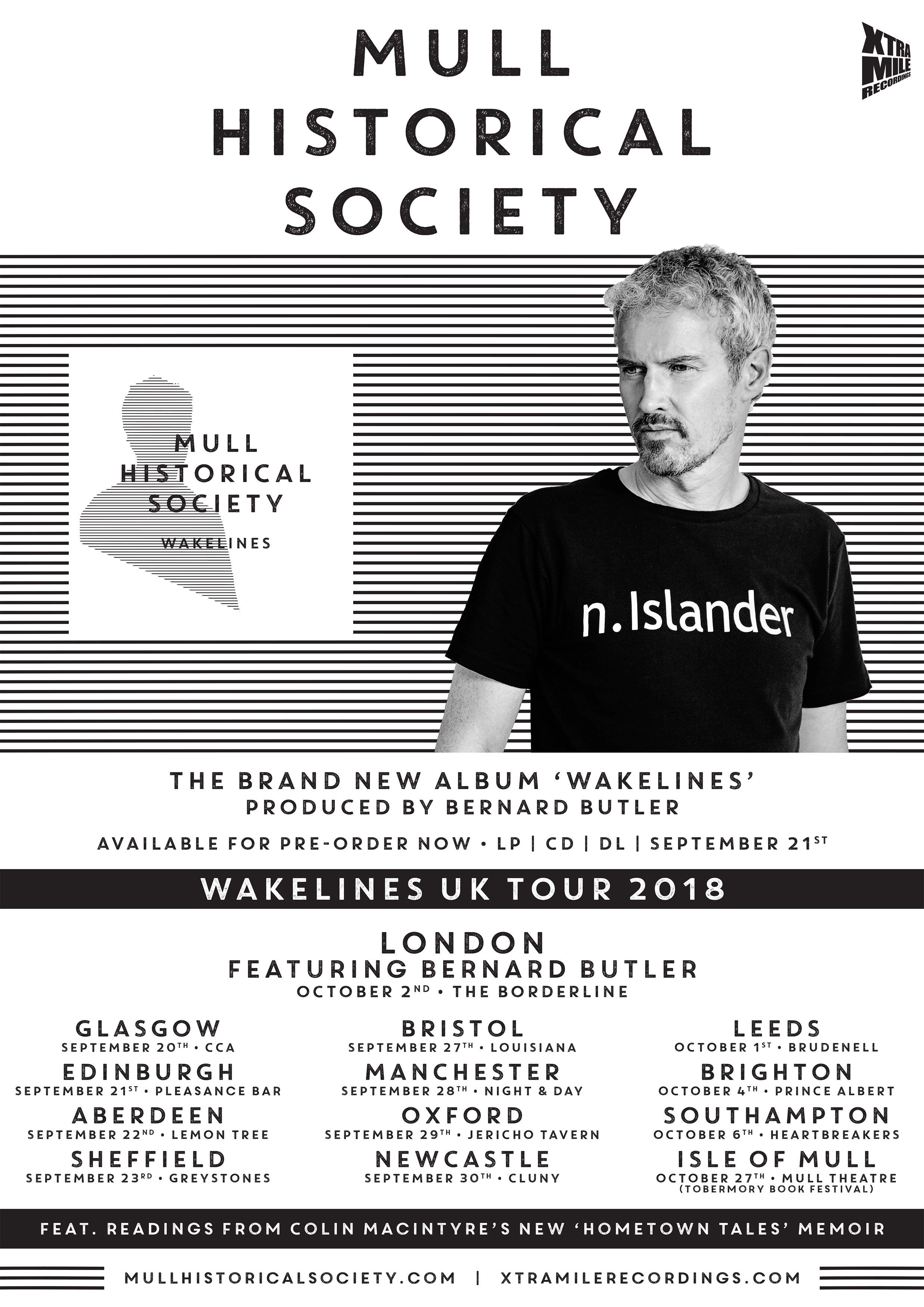 PRE-ORDER the new Mull Historical Society album / UK Tour / New BOOKS / HEAR first single